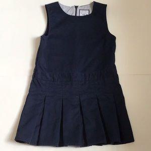 Gymboree Navy Sleeveless Pleated Dress
